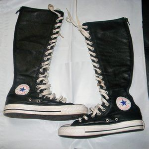 Converse All Star Tall Knee High LEATHER boots 7